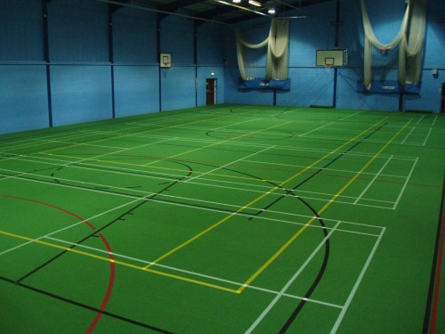 sports hall line marking