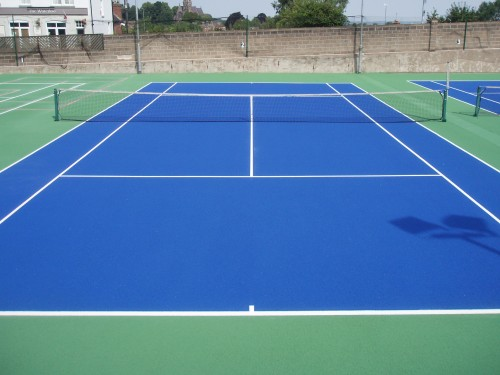 Tennis Court Painting And Colouring